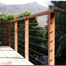 Wood Steel Balustrade