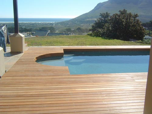 Pool decks contour decks for Best timber to use for decking around a pool